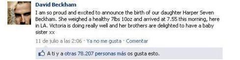 Facebook Beckham