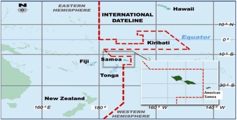 Nuevo huso horario Samoa