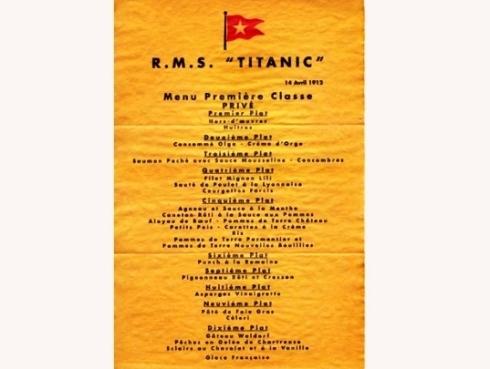 Menú Titanic