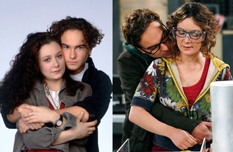 Sara Gilbert y Johnny Galecki