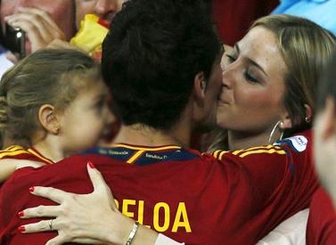 Álvaro Arbeloa y familia