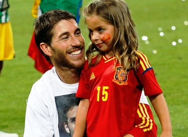 Sergio Ramos y su sobrina
