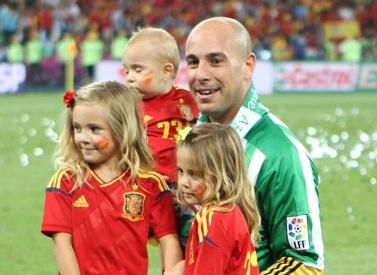 Pepe Reina y familia