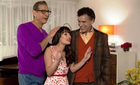 Jeff Goldblum, Lea Michele y Brian Stokes