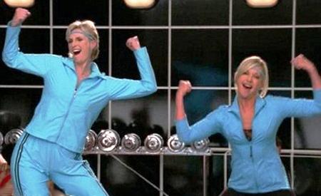 Sue Sylvester y Olivia Newton-John