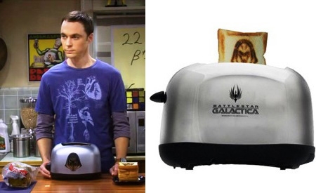 Tostadora Battlestar, The Big Bang Theory