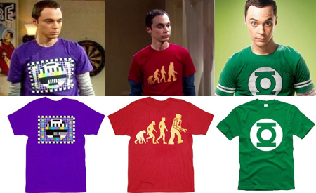 Las camisetas de Sheldon, The Big Bang Theory