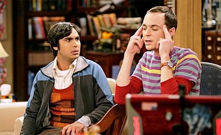 Sheldon visitando Flatland