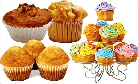 Muffins, cupcakes y magdalenas.