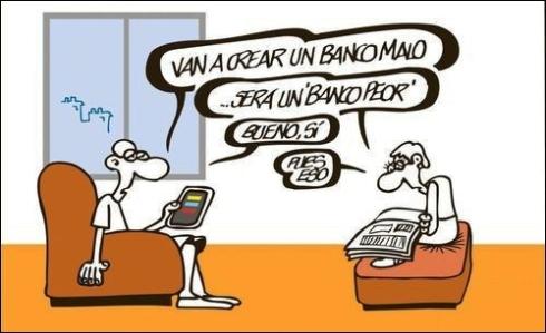 El banco malo según Mingote
