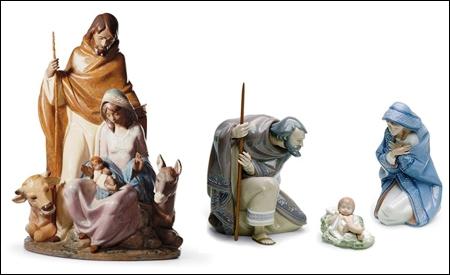 Belén en porcelana de Lladró