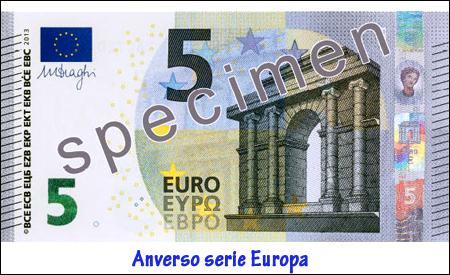 Nuevo billete de 5 euros