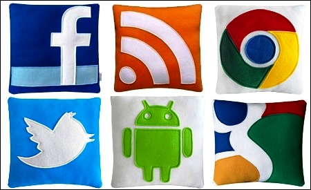 Iconos de redes sociales de Craftsquatch
