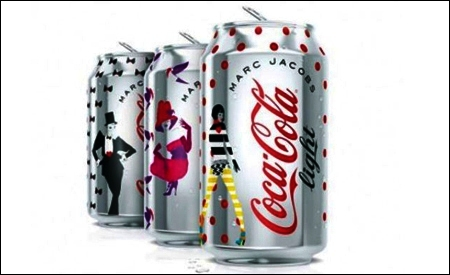 Diseños de Marc Jacobs para Coca-Cola Light