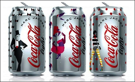 Diseños de Marc Jacobs para Coca-Cola Light