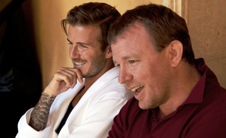 David Beckham y Guy Ritchie