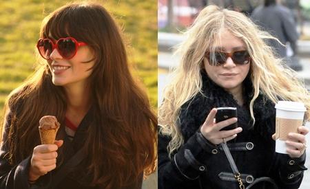 Zooey Deschanel y Mary-Kate Olsen