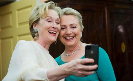 Meryl Streep y Hillary Clinton