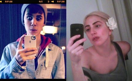Justin Bieber y Lady Gaga