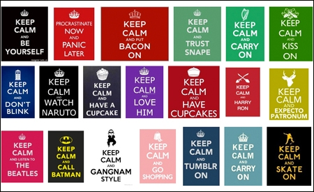 "Divertidas versiones del ""Keep calm"""