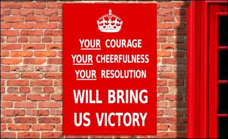Su valor, su alegría, su resolución nos dará la victoria