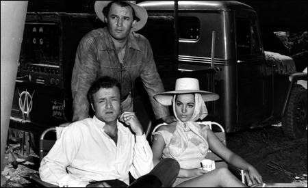 Sara Montiel con Brian Keith y Rod Steiger
