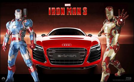 Iron Man y Audi R8 e-tron