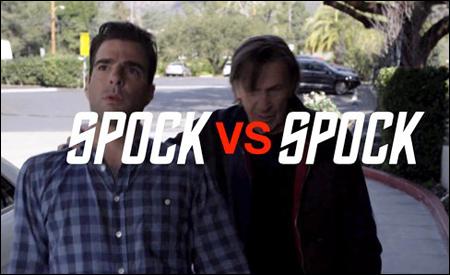 Zachary Quinto y Leonard Nimoy, Spock vs Spock