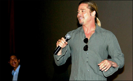 Brad Pitt en Madrid