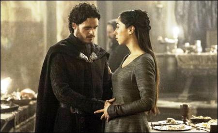 Robb Stark y su mujer Talisa