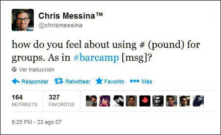 Twitter de Chris Messina