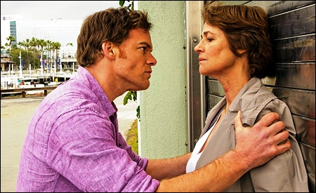 Dexter Morgan y Evelyn Vogel