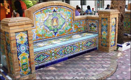 Azulejos en la Plaza de la Laguna