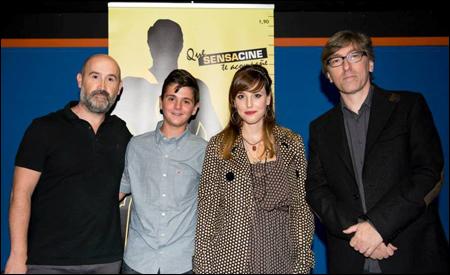 Javier Cámara, David, Natalia de Molina y David Trueba