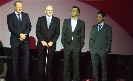 Stellan Skarsgård, Noah Gordon, Olivier Martinez y Tom Payne