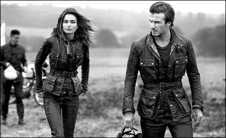 Andreea Diaconu y David Beckham