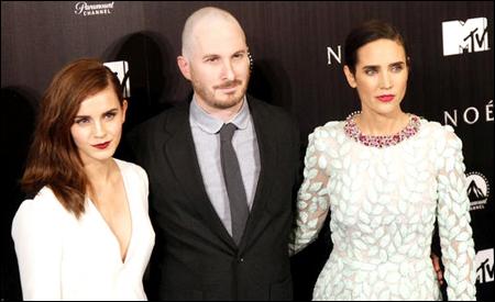 Emma Watson, Darren Aronofsky y Jennifer Connelly