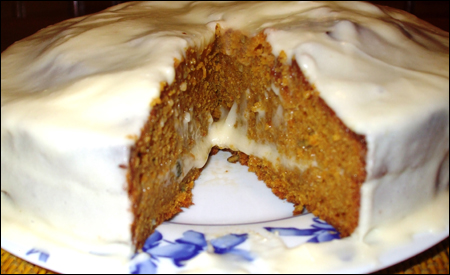 'Carrot cake' o tarta de zanahoria
