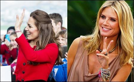 Kate Middleton y Heidi Klum
