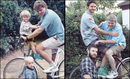 Los hermanos Luxton y su padre