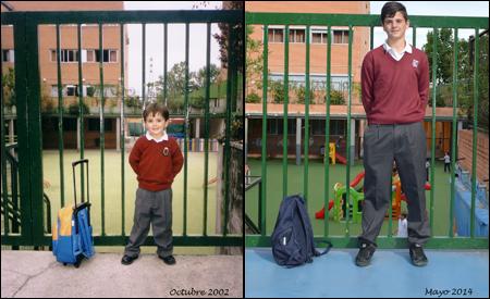 David en 2002 y 2014