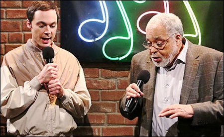 Sheldon y James Earl Jones