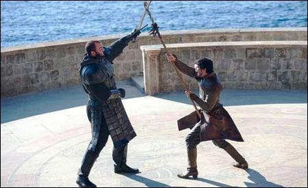 """""""La montaña"""" y Oberyn luchando"""