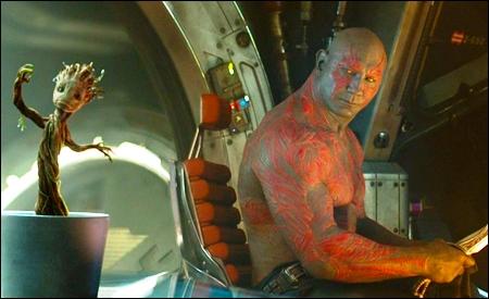Bebé Groot y Drax