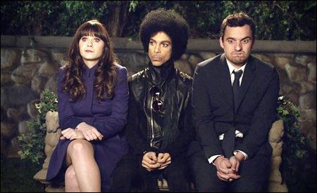 Zooey Deschanel, Prince y Jake Johnson