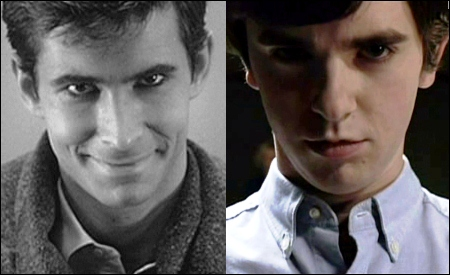 Anthony Perkins y Freddie Highmore
