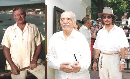 Ernest Hemingway, Gabriel García Marquez y  Johnny Depp