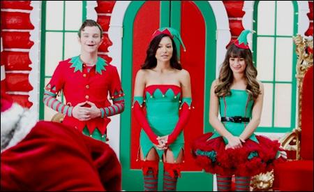 Kurt, Santana y Rachel