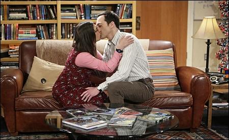 Amy y Sheldon antes de romper