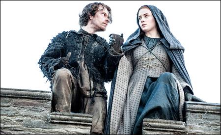 Theon y Sansa escapando de Invernalia